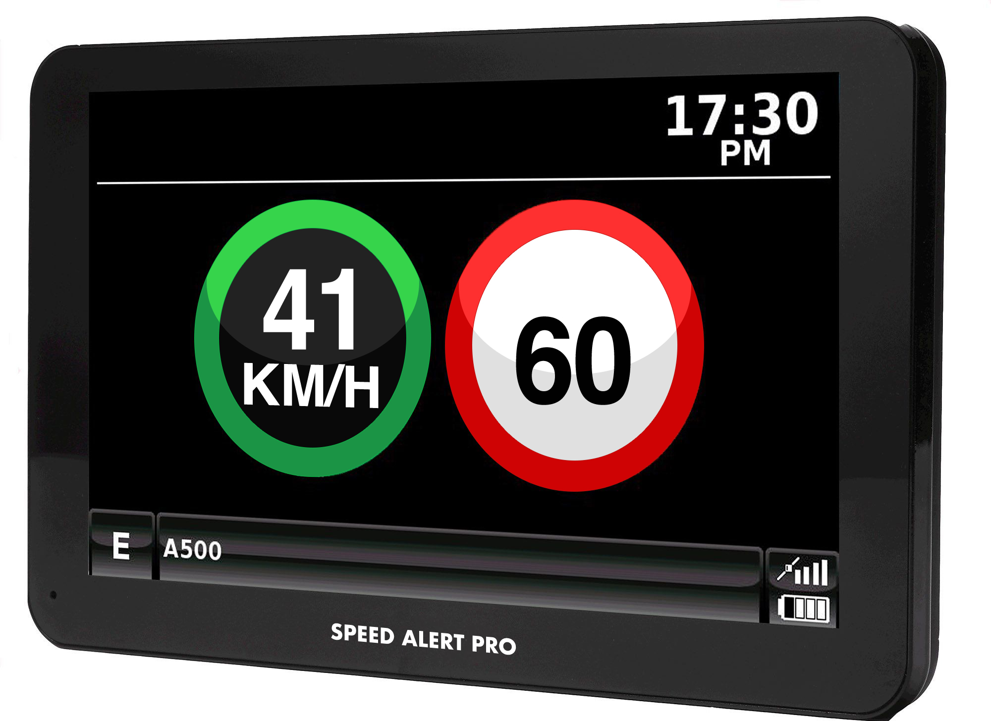 SPEED ALERT PRO DISPLAYS YOUR SPEED AND SPEED LIMIT