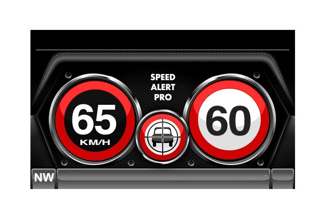 SPEED ALERT PRO AREA SPEED LIMIT DISPLAYED ON THE RIGHT